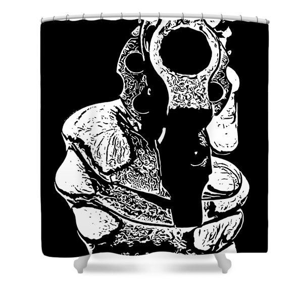 Gunman T-shirt Shower Curtain