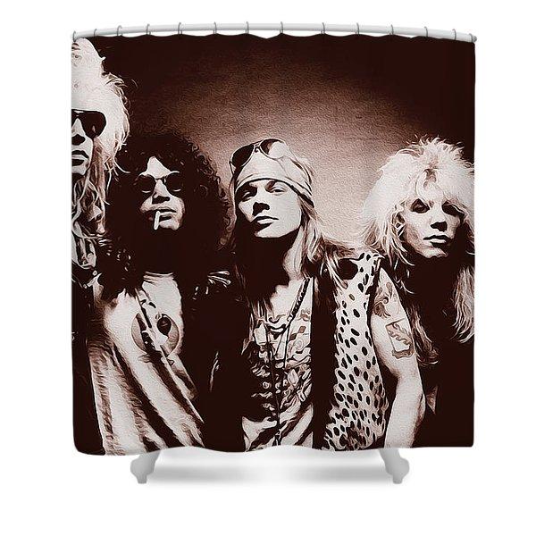 Guns N' Roses - Band Portrait 02 Shower Curtain