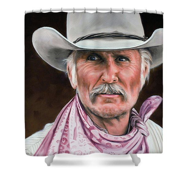Gus Mccrae Texas Ranger Shower Curtain