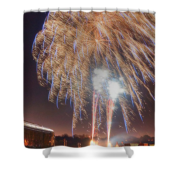 Guy Fawkes Night Fireworks Shower Curtain