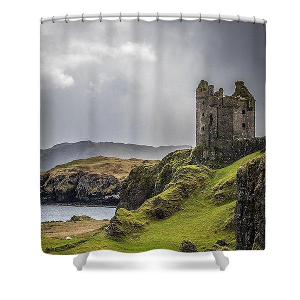 Gylen Castle On Kerrera In Scotland Shower Curtain