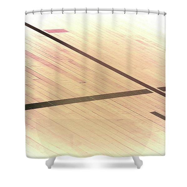 Gym Floor Shower Curtain