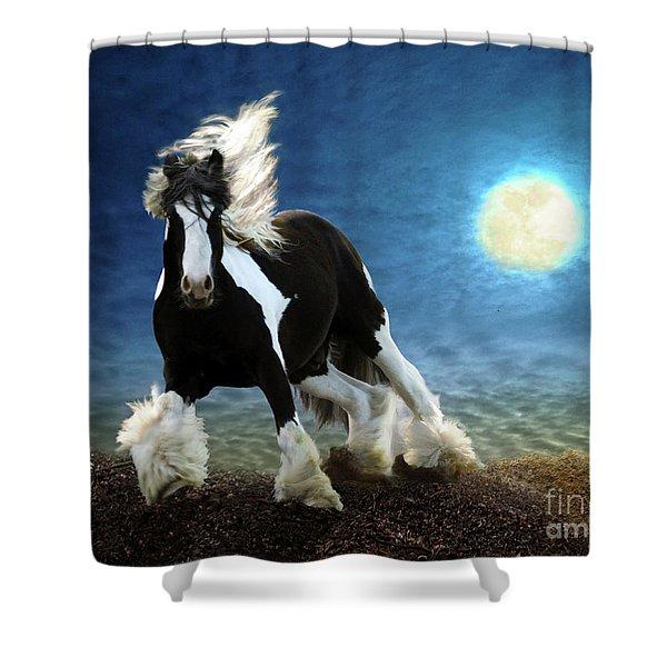 Shower Curtain featuring the digital art Gypsy Moon by Melinda Hughes-Berland