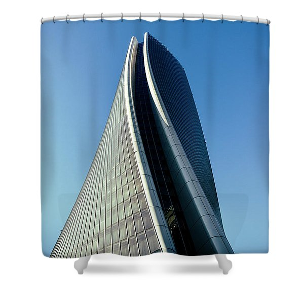Hadid Tower, Milan, Italy Shower Curtain