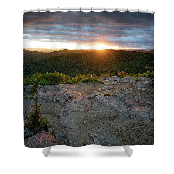 Hadley Mountain Sunset Shower Curtain