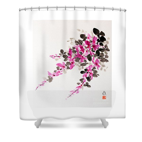 Hagi / Bush Clover Shower Curtain