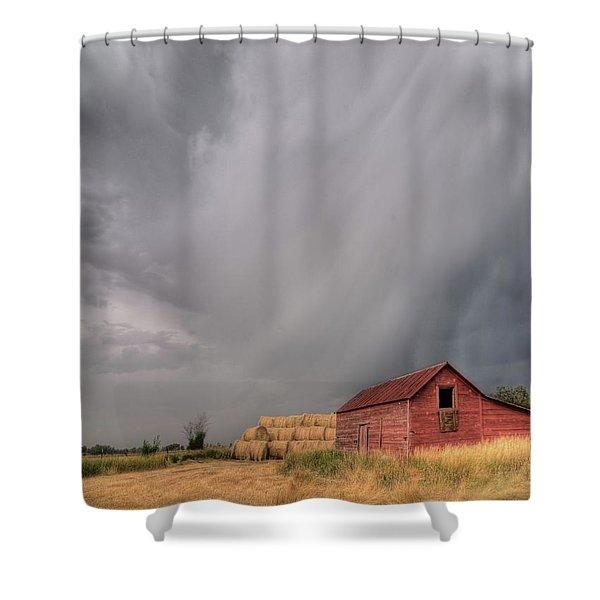 Hail Shaft And Montana Barn Shower Curtain
