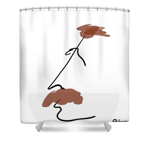 Hair Apparent Shower Curtain