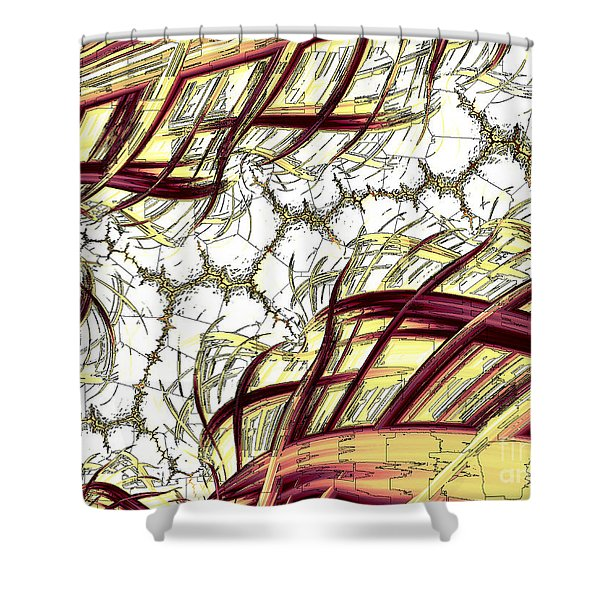 Hairline Fracture Shower Curtain