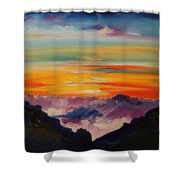 Haleakala Volcano Sunrise In Maui      101 Shower Curtain