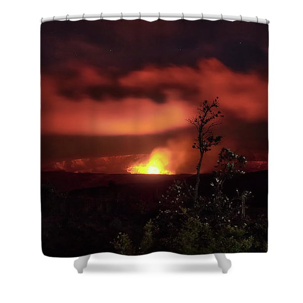 Halemaumau Crater Shower Curtain