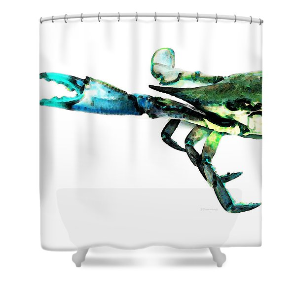 Half Crab - The Left Side Shower Curtain