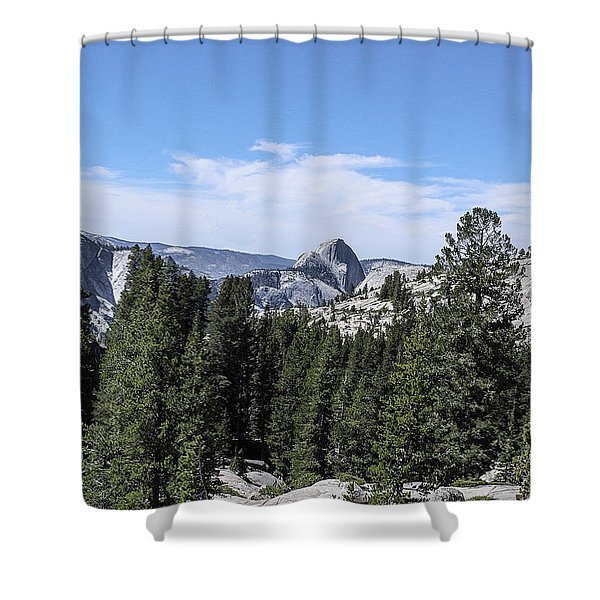 Half Dome From Olmstead Point Yosemite Valley Yosemite National Park Shower Curtain