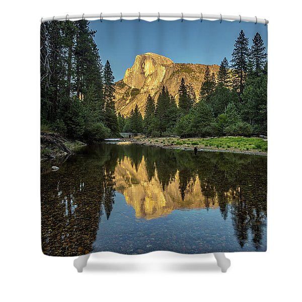 Half Dome From  The Merced Shower Curtain