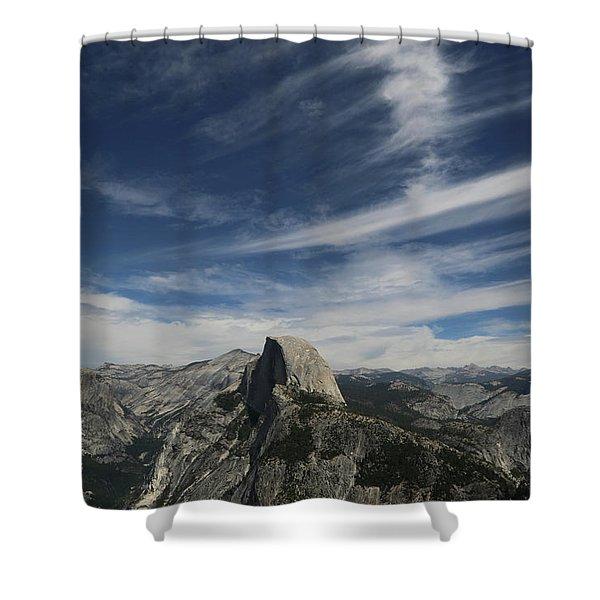 Half Dome Sky Shower Curtain