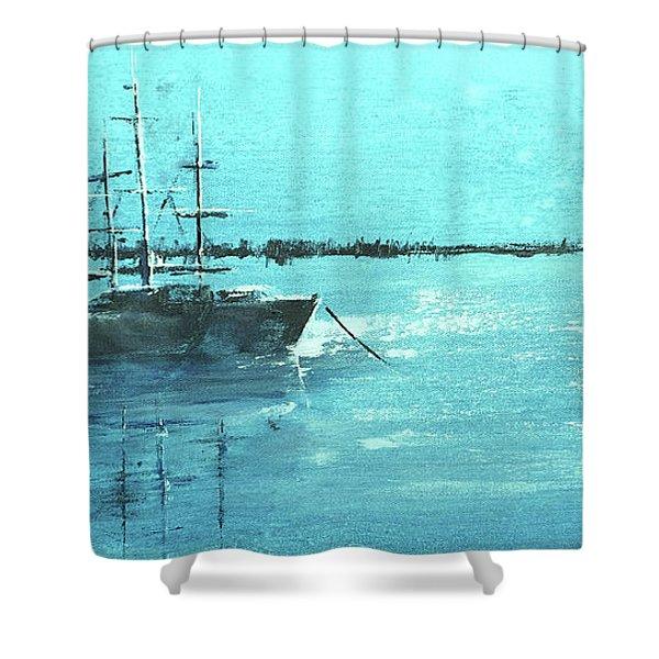 Half Moon Harbor Shower Curtain