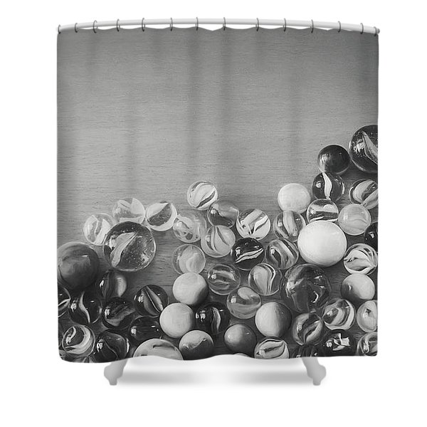 Half My Marbles Shower Curtain