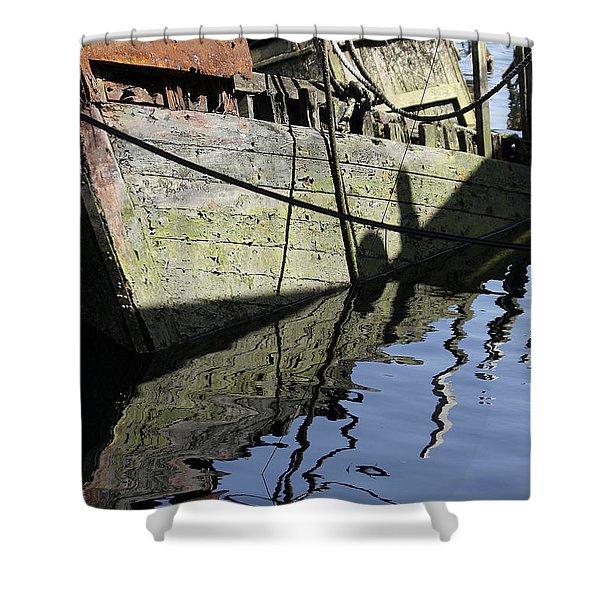 Half Sunk Boat Shower Curtain