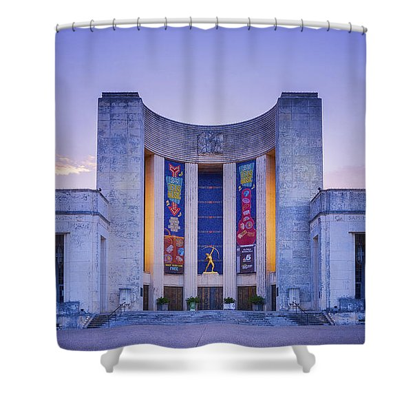 Hall Of State Texas Shower Curtain