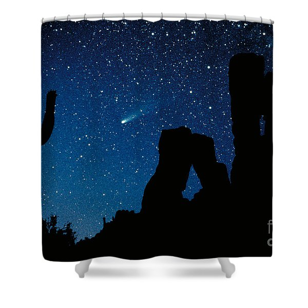Halley's Comet Shower Curtain