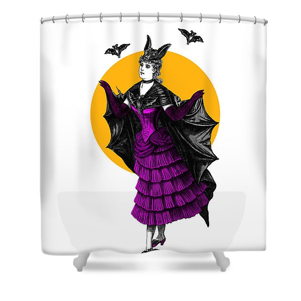 Halloween Batgirl Shower Curtain