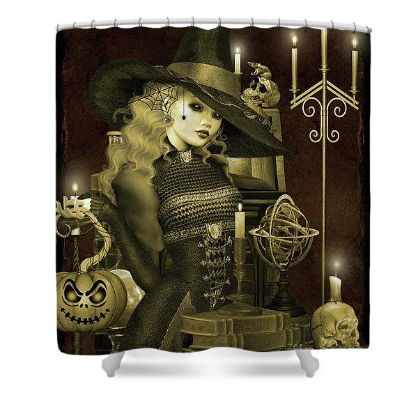 Halloween Graveyard-e Shower Curtain