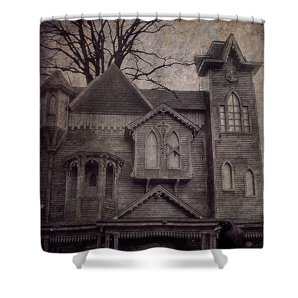 Halloween In Old Town Shower Curtain