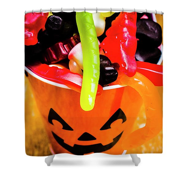 Halloween Party Details Shower Curtain