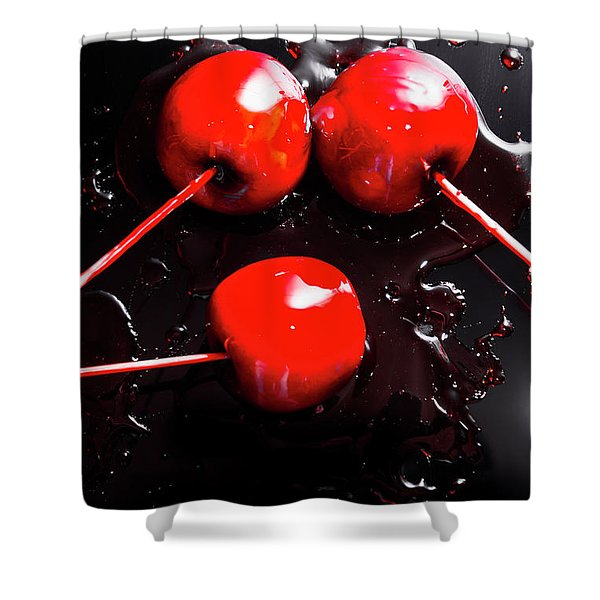 Halloween Toffee Apples Shower Curtain