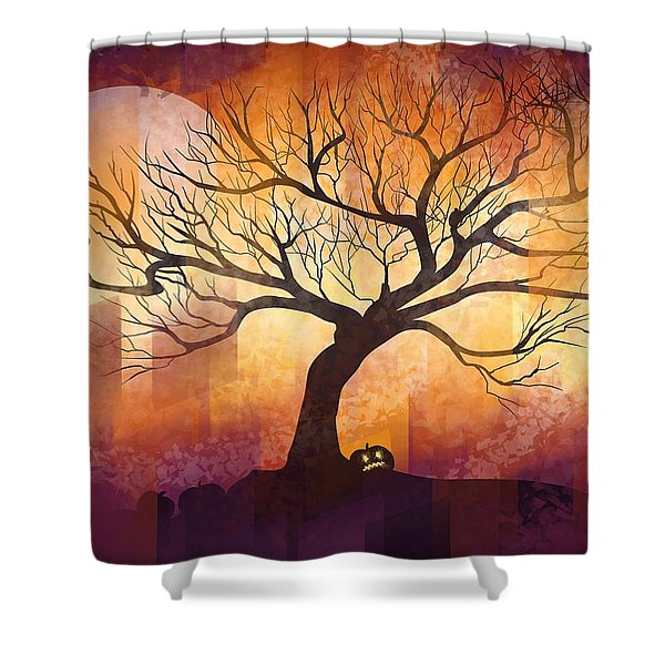 Halloween Tree Shower Curtain