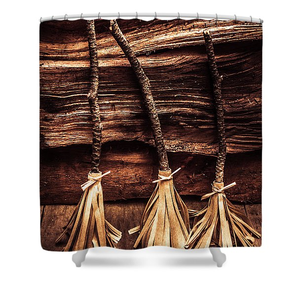 Halloween Witch Brooms Shower Curtain