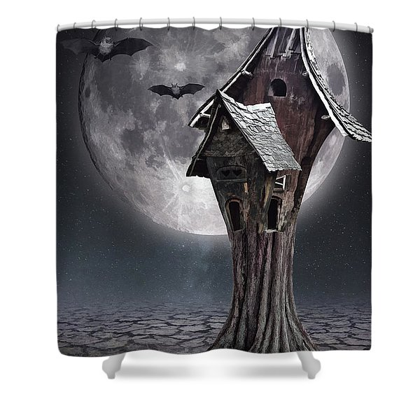 Halloween Witch House 1 Shower Curtain