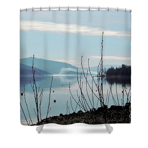 Halo On Copper Island Shower Curtain