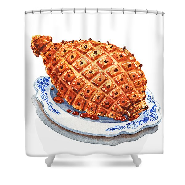 Ham On The Plate Shower Curtain