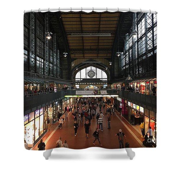 Hamburg Germany Trainstation Shower Curtain