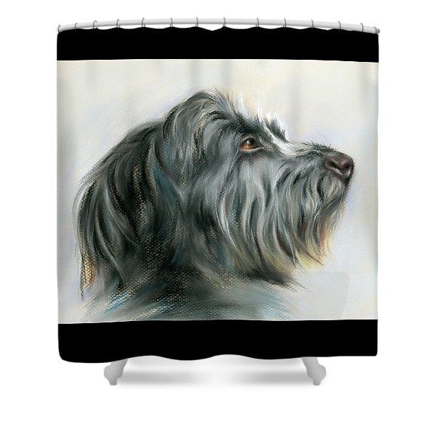 Hamish The Wolfhound Shower Curtain