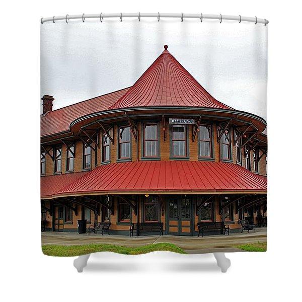 Hamlet Train Station Shower Curtain