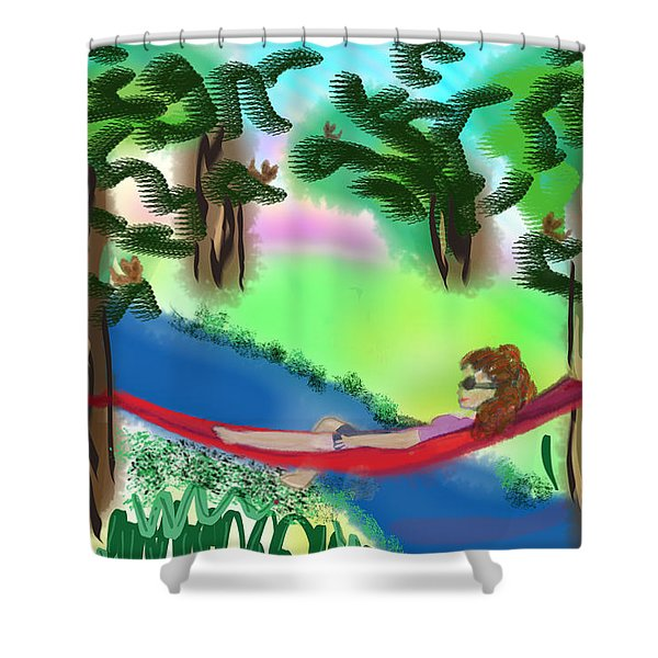 Hammock Under The Chihuahua Trees Shower Curtain