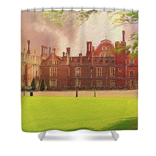 Hampton Court Palace Panorama Shower Curtain