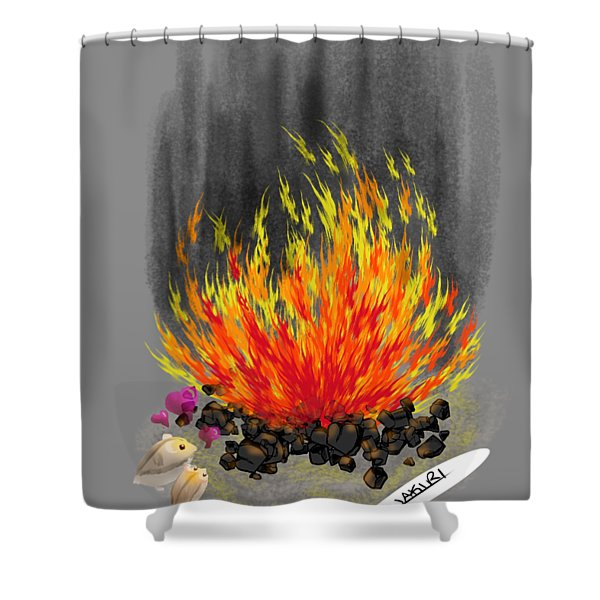 Hamsters By A Fire Shower Curtain