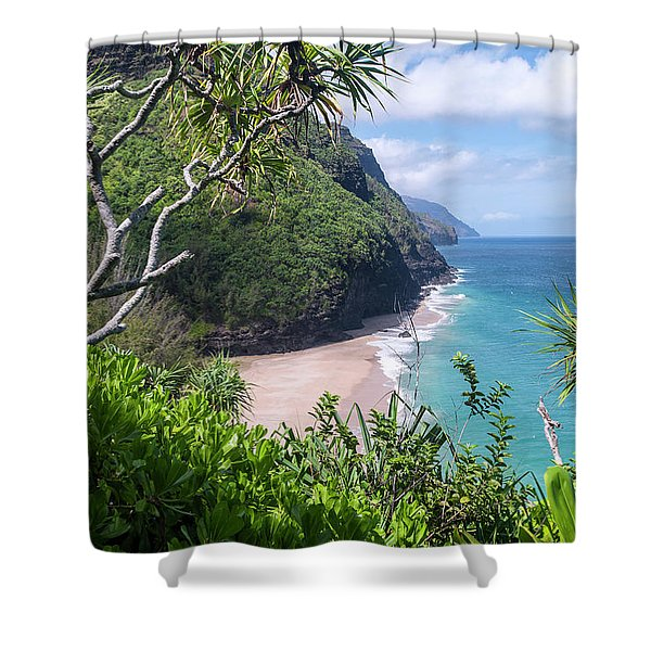 Hanakapiai Beach Shower Curtain