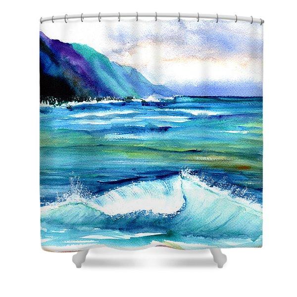Hanalei Sea Shower Curtain