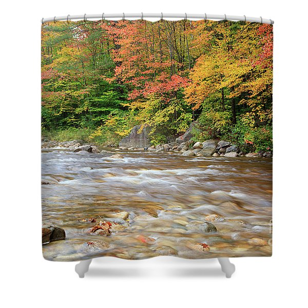 Shower Curtain featuring the photograph Hancock Branch - White Mountains New Hampshire  by Erin Paul Donovan