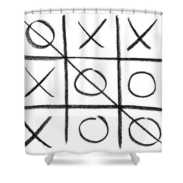 Hand-drawn Tic-tac-toe Game Shower Curtain
