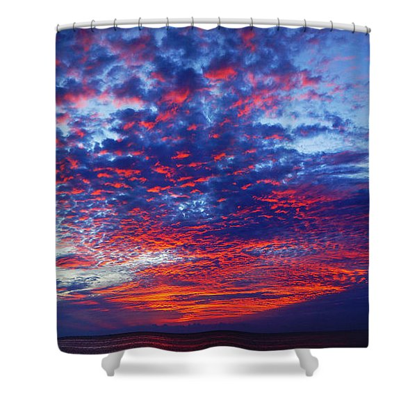 Hand Of God At Sunrise Shower Curtain
