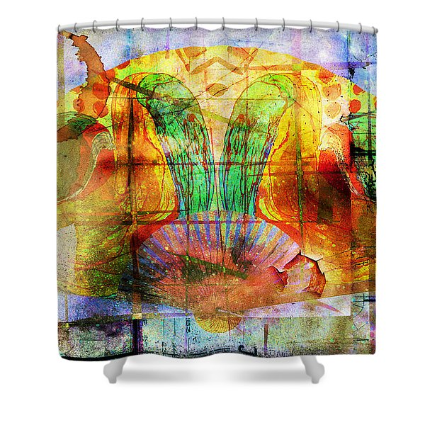 Handheld Fan Shower Curtain