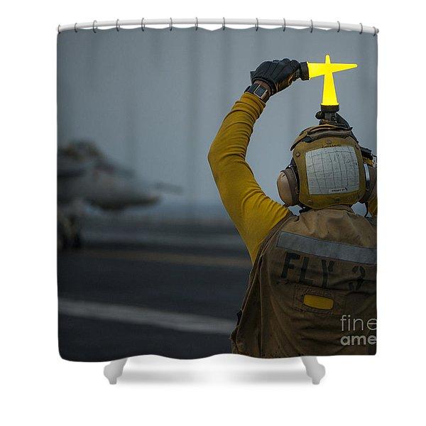 Handling Shower Curtain