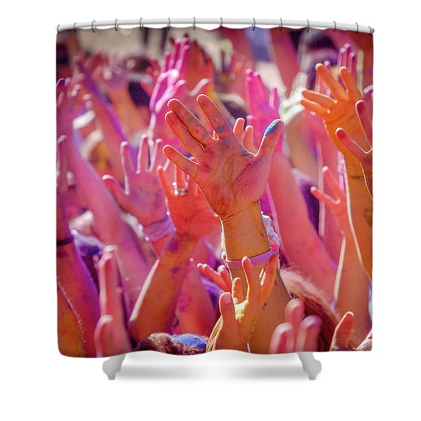 Hands Up Shower Curtain