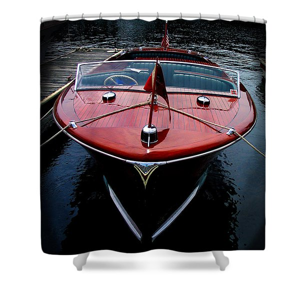Handsome Wooden Boat Shower Curtain