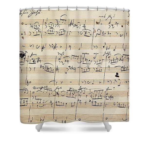 Handwritten Score For Herzliebster Jesu, Chorale Prelude Number 2 Shower Curtain